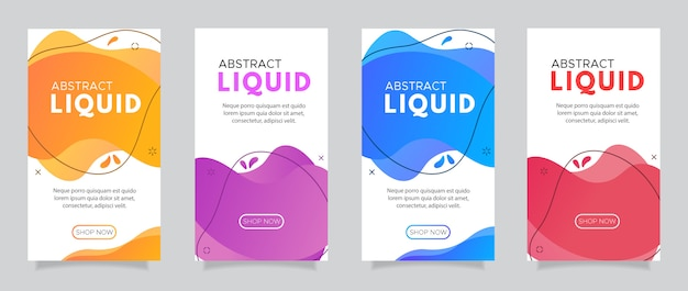 Modern fluid mobile for flash sale banners. Premium Vector