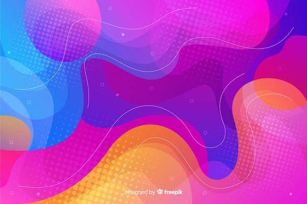 Modern fluid shapes background Free Vector