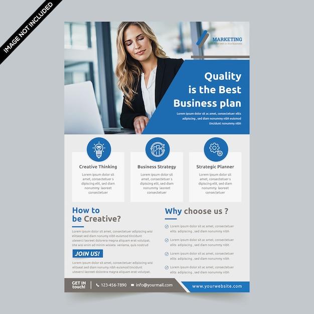 Modern flyer template premium Premium Vector