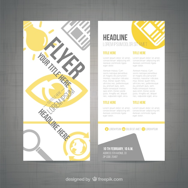 Modern flyer template vector free download for Modern flyers template