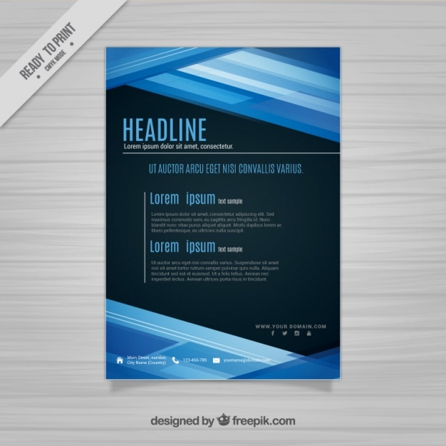 Modern Flyer Template Vector  Free Download