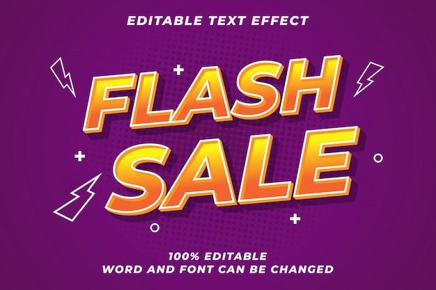 Modern font effect for flash sale Premium Vector