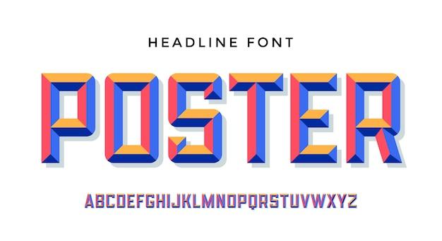 현대 글꼴. 프리미엄 벡터