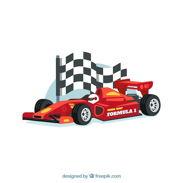 Modern formula 1 racing car with realistic design Premium Vector