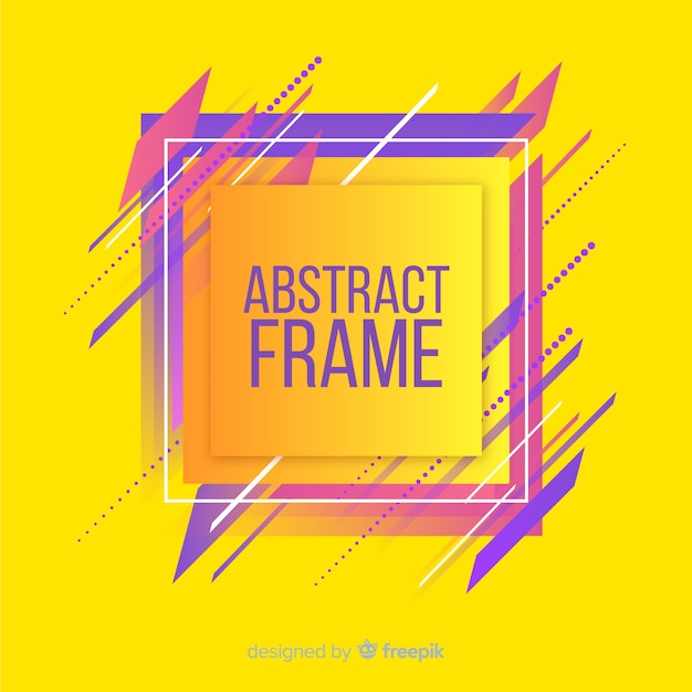 Modern frame with abstract shapes Free Vector
