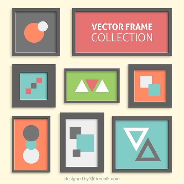 Modern frames collection Vector | Free Download