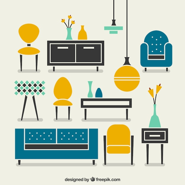 Modern Furniture Vector Free Download