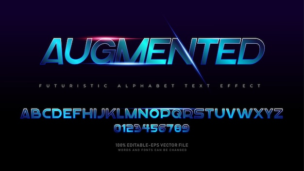 Gethinh font chữ bảng chữ cái tương lai hiện đại với hiệu ứng ánh sáng laser