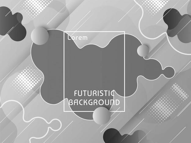 Modern futuristic techno background Premium Vector