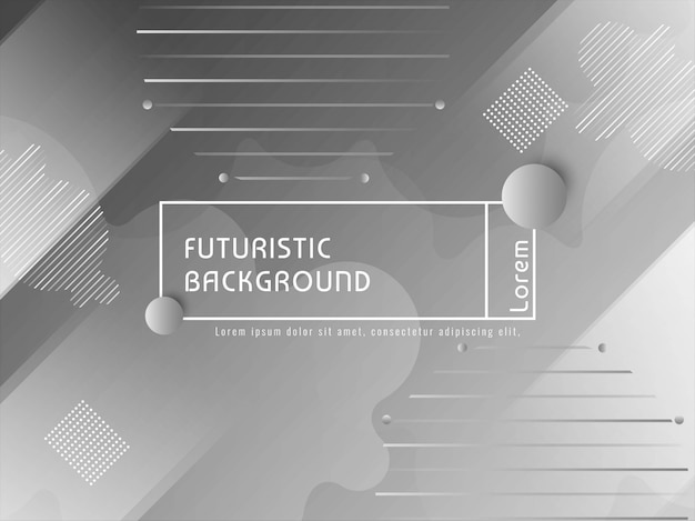Modern futuristic techno background Free Vector