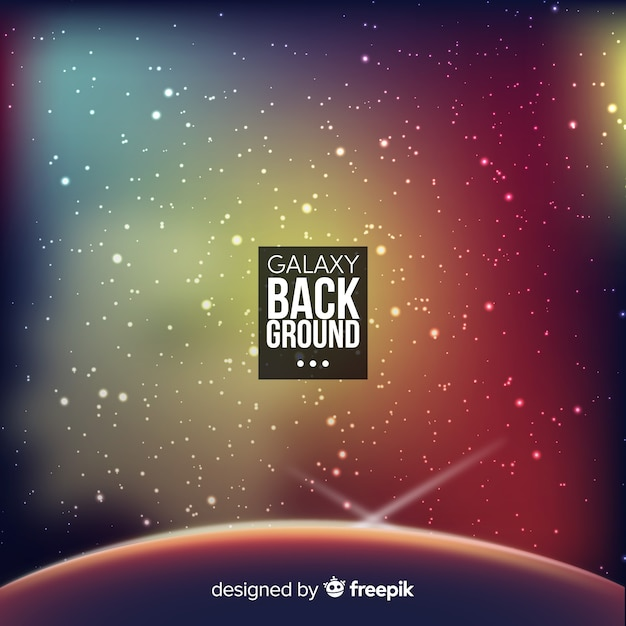 Modern galaxy background with colorful style Free Vector