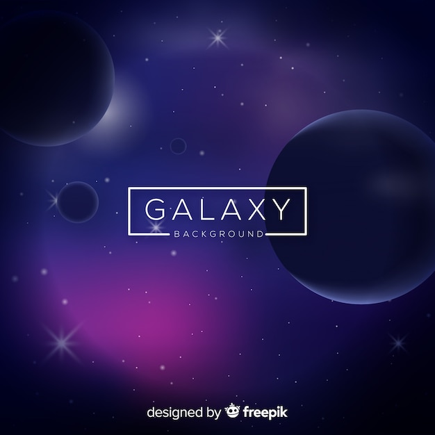 Modern galaxy background with realistic design Free Vector