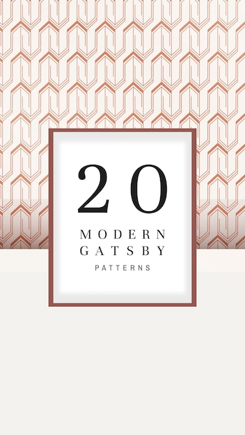 Modern gatsby patterns set collection Free Vector