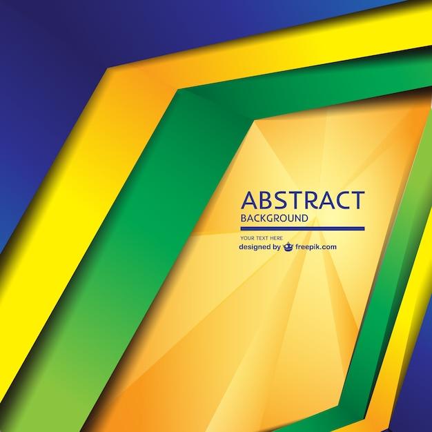 現代の幾何学的なブラジルのコンセプトの背景 Premiumベクター