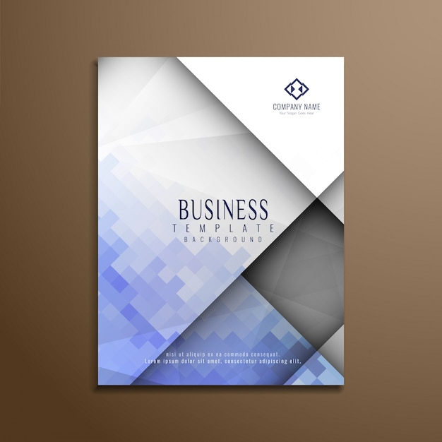 Modern geometric business brochure design