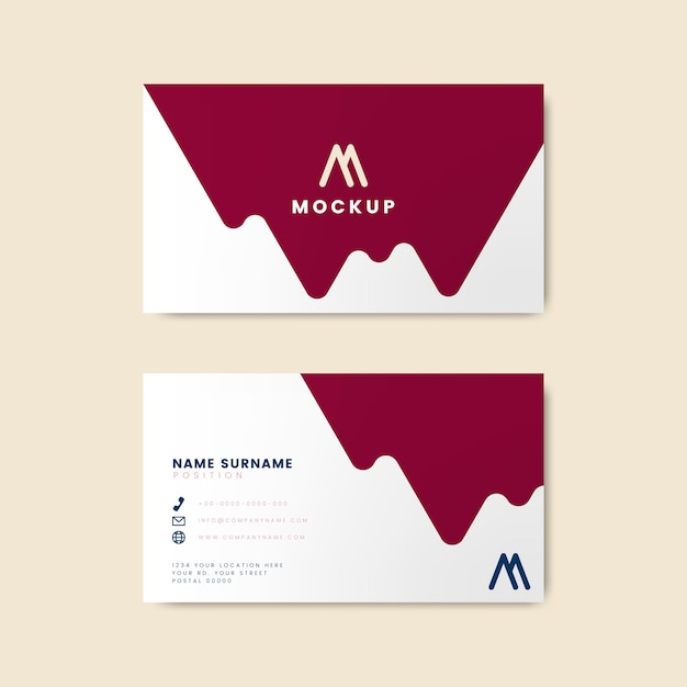 Modern geometric business card design Free Vector