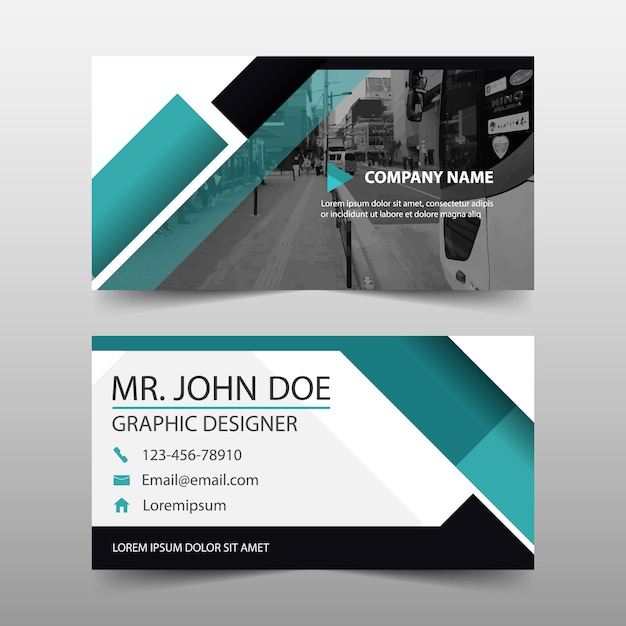Modern geometric business card template vector free download modern geometric business card template free vector fbccfo