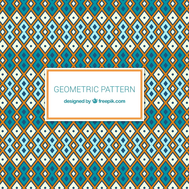 Modern geometric pattern with ethnic style