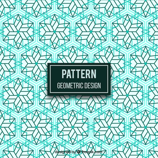 Modern geometric pattern with star shapes