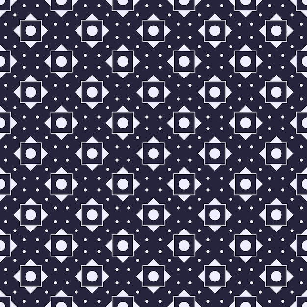 Modern geometric seamless pattern background. classic batik wallpaper. Premium Vector