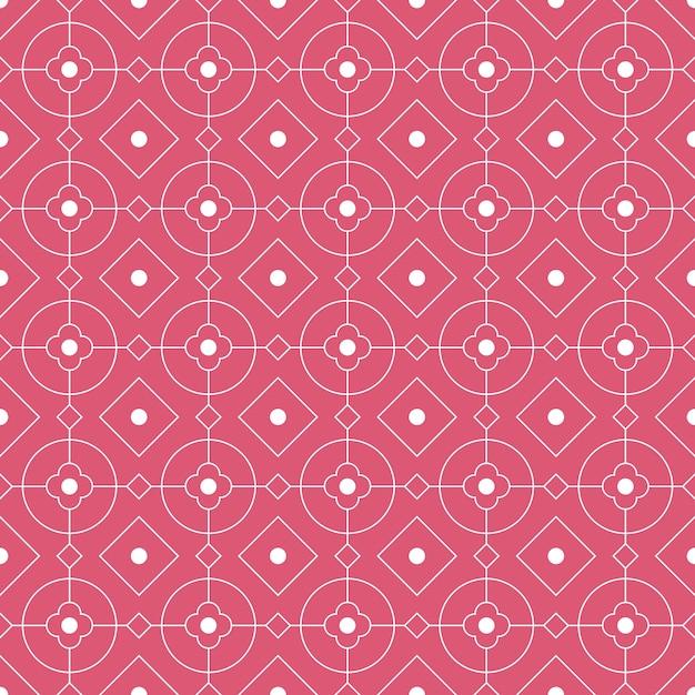 Modern geometric seamless pattern background. classic batik wallpaper. Premium Vector