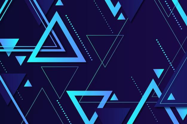 Modern geometric shapes on dark background Free Vector