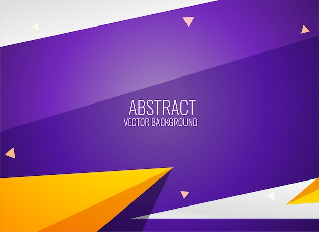 Modern geometric style template design Free Vector