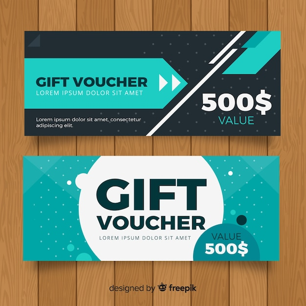 Modern gift voucher with elegant style Free Vector