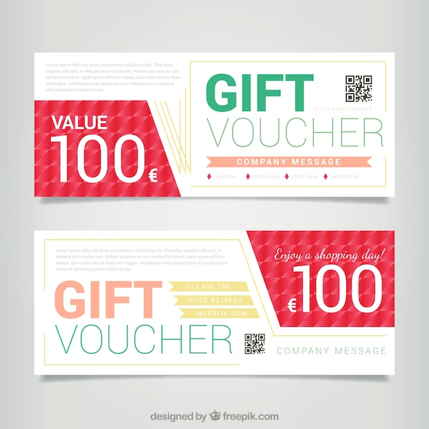 Modern gift voucher vector free download modern gift voucher free vector negle Images