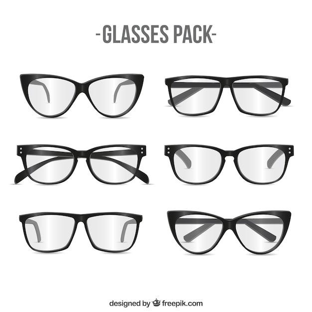 Modern glasses pack Free Vector