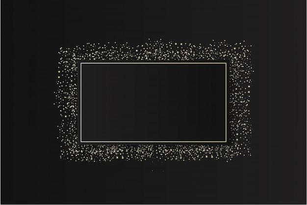 Modern glitter frame with sparkles Free Vector