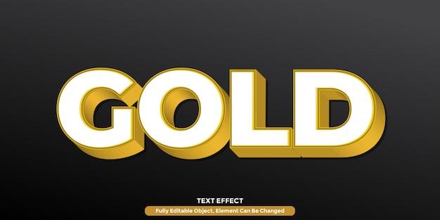 Modern gold 3d текстовый эффект Premium векторы