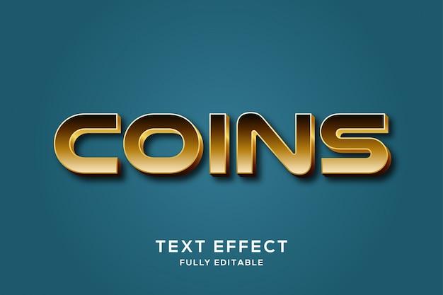 Modern gold luxury text effect Premium векторы