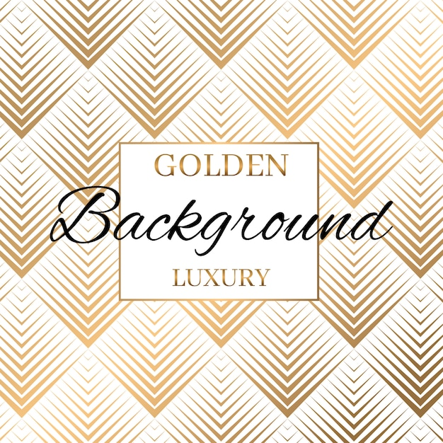 Modern gold stripped seamless pattern background Premium Vector