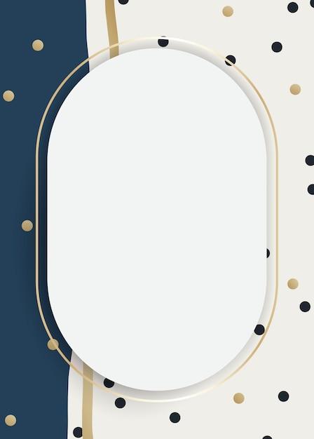 Modern golden frame Free Vector