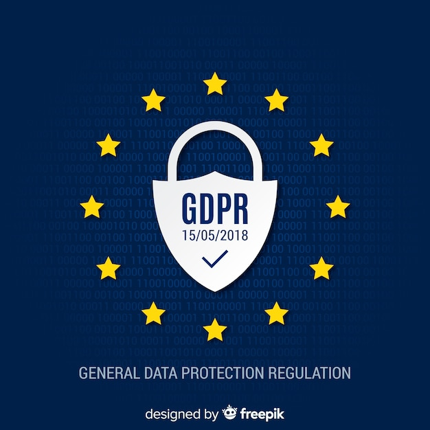 Modern gpdr background Free Vector
