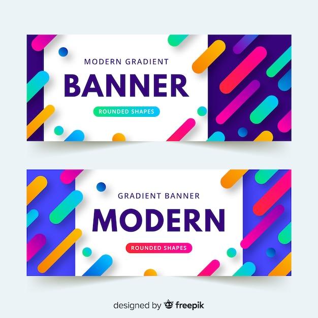 Modern gradient banner Free Vector