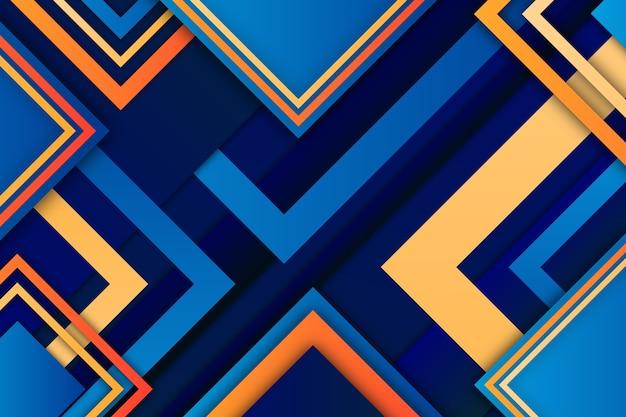 Modern gradient geometric shapes wallpaper Free Vector