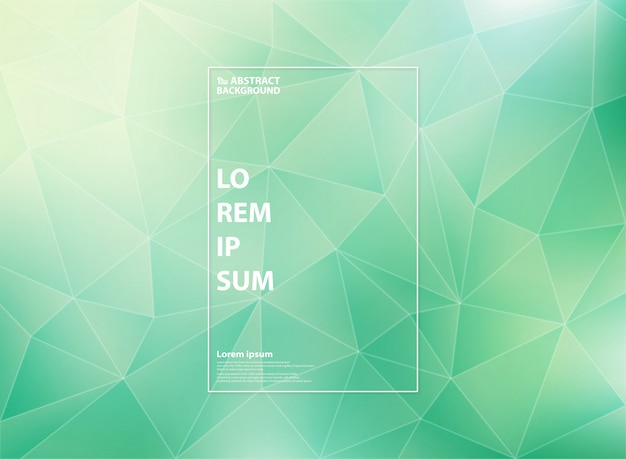 Modern gradient green mint of low polygon triangle patterns Premium Vector