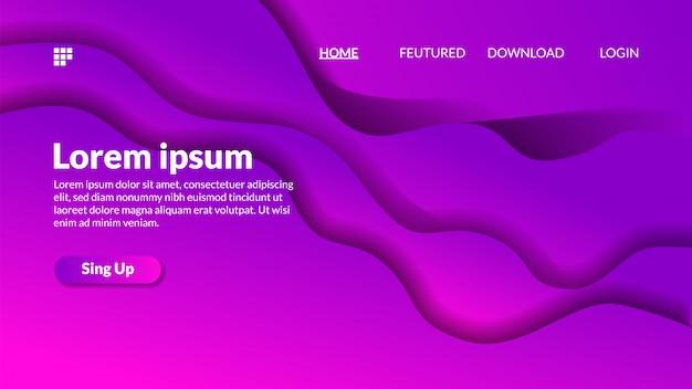 Modern gradient paper cut out background fluid wave Premium Vector