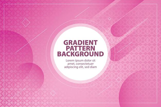 Modern gradient pattern shape background Premium Vector