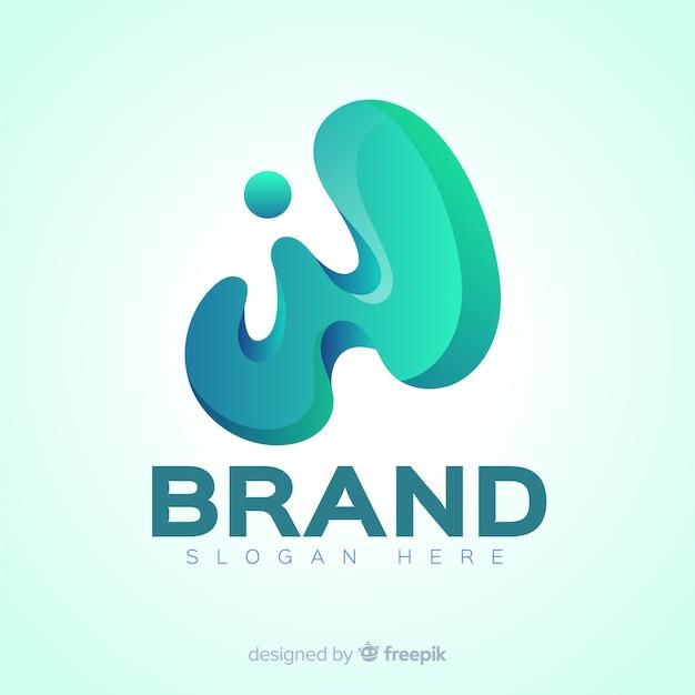 Modern gradient social media logo Free Vector