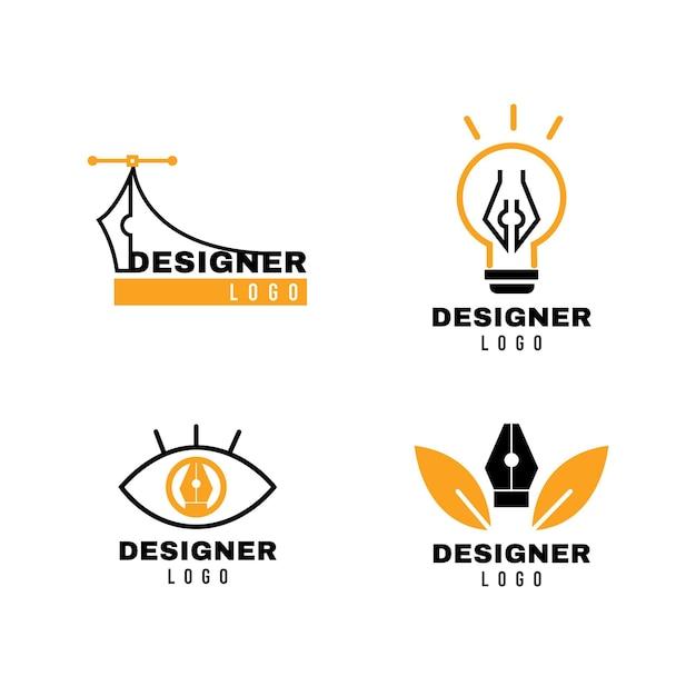 현대 그래픽 디자인 로고 팩 프리미엄 벡터