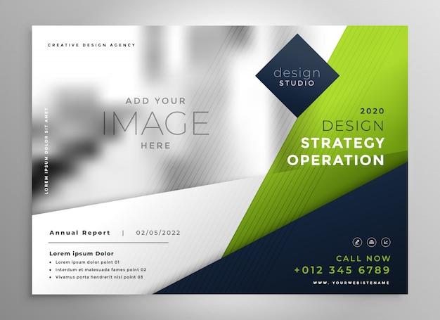 Modern green business presentation brochure Free Vector