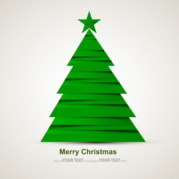 Modern green christmas tree vector free download