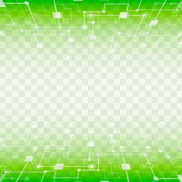 Modern green technology background