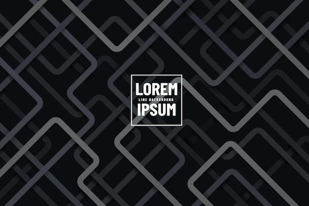 어두운 배경에 현대적인 회색과 검은 색 기하학적 라인 겹치는 레이어. 프리미엄 벡터