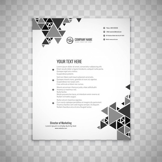 Modern grey business brochure
