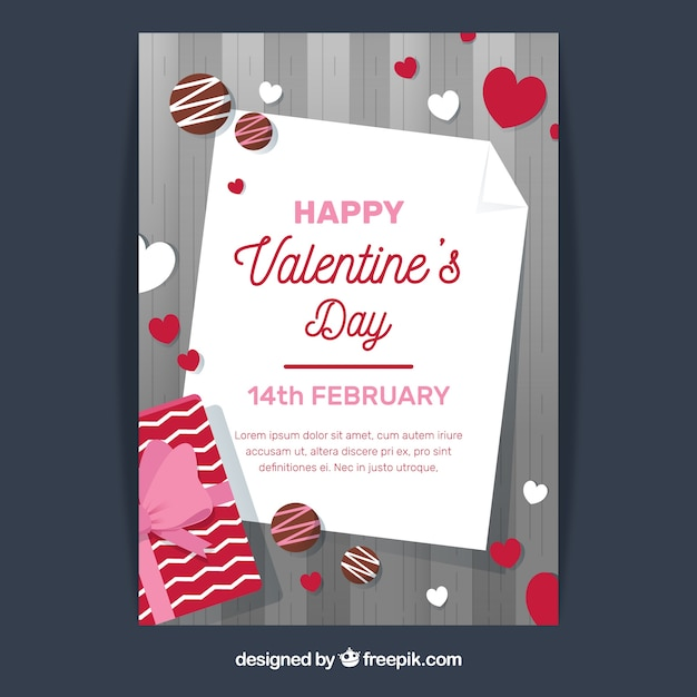 Modern Grey Valentine Flyer Template Vector Free Download