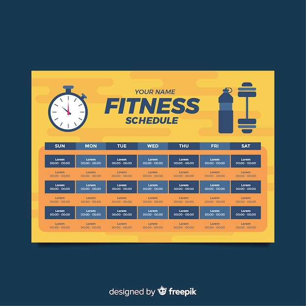Free Fitness Gym Flyer Template Psd Files And Free Church: Calendar Fitness Vectors, Photos And PSD Files